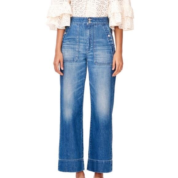 13972988e009  La Vie Rebecca Taylor  Delphine Wide Leg Jeans